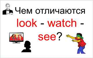 Отличия look - watch - see